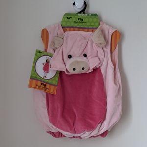 Pig 2T Plush Costume Hooded Jumpsuit